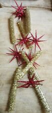 New Listingvintage gold and red Christmas garland
