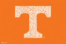 Tennessee Volunteers VOLS FOOTBALL DOWN FIELD Fight Song NCAA Logo POSTER
