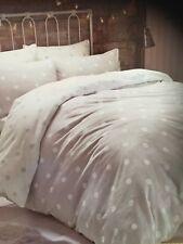 Polka grey and white 100% Cotton warm Flannelette Polka Dot Duvet Cover Set.