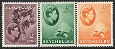 Seychelles1938 part set multi-script mint SG135/136/136ab (3)
