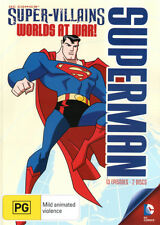 Superman: Super-Villains - Worlds at War! * NEW DVD * (Region 4 Australia)