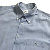 "Mens LACOSTE Oxford Shirt | Size 44 | Blue Long Sleeve Smart Casual 50"" Chest"