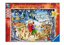 RAVENSBURGER JIGSAW PUZZLE SANTA'S CHRISTMAS PARTY ROY TROWER 1000 PCS  #19893
