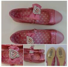 DISNEY MINNIE MOUSE PINK SPARKLY PARTY SHOES FANCY DRESS GLITTER SIZE 13 - 1 NEW