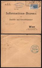 STORIA POSTALE Regno 1895 Lettera da Napoli per Vienna (BLT)