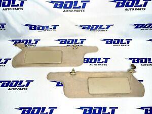 1995 - 99 TOYOTA AVALON sunvisors set pair OEM TAN sun visors left right lights