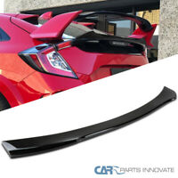 Fits Honda 16-19 Civic X Hatchback 5Dr Painted Gloss Black Rear Spoiler Wing
