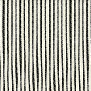 Carolina Linens Gathered Bedskirt in Farmhouse Black Ticking Stripe