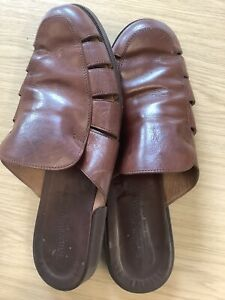 Russell & Bromley Sandals 44  Brown Leather Upper