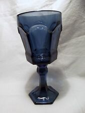 *NEW* Set of 8 Vintage FOSTORIA cobalt dark BLUE water GOBLET glass VIRGINIA
