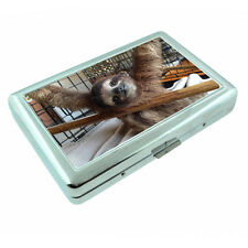Cute Sloth Images D5 Silver Metal Cigarette Case RFID Protection Wallet