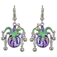 Kirks Folly Mardi Gras Seaview Water Moon Leverback Earrings (Silvertone)
