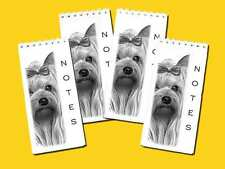 Yorkshire Terrier Dog Pack of 4 Small Slim Note Pads Gift Set