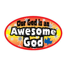 Christian bumper sticker decal Awesome God auto novelty