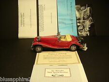 Franklin Mint - 1935 Mercedes 500 K Special Roadster - Includes Hang Tag & COA