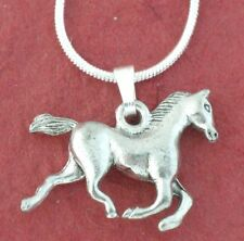 Horse Necklace 3D Show you love horses New silver plated Charm Pendant and Chain