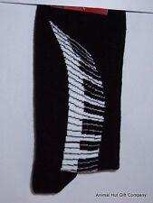 Piano Keyboard on Black Mens/Womens Socks