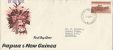 Stamp 1958 Papua New Guinea 1/7 brown cattle on official FDC
