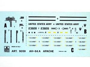 Esci 9059 Vintage Stickers AH-64A Apache 1:72 Modélisme