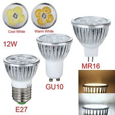 E27 Gu10 Mr16 Alta Potencia 9w 12w 15w Lámpara Led Foco cálido / fresco Blanco Gran