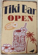 TIKI BAR Vintage Rustic Retro Tin Metal Sign Man Cave, Shed & Bar-Home
