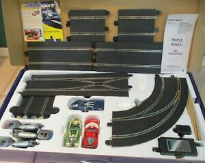 """2006 SCALEXTRIC """"Triple Rivals""""1/32ND DIGITAL TRACK SLOT SET; untested ~ NICE!"""