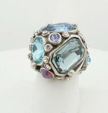 NEW SWEET ROMANCE PASTEL CRYSTAL GEOMETRY ADJUSTABLE RING ~~MADE IN USA ~~