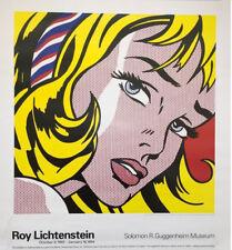 Girl with Hair Ribbon by Roy Lichtenstein Original 1993 Guggenheim Museum Poster