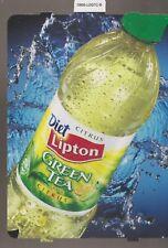 Diet Lipton GREEN TEA with CITRUS Bottle Vending Machine Sign