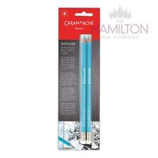 CARAN D'ACHE SKETCHER PENCILS - Set of 2 Blue No-Photo Sketch Pencils