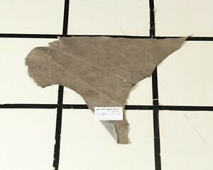 """""""Greyswood"""" Taupe Scrap Leather Hide w/Crackle Finish Approx. 1.25 sqft H37A17-7"""