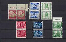 DDR 1951, 1952,  4 Zweierblöcke, postfrisch.