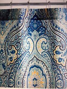 pottery barn beale paisley shower curtain #1348