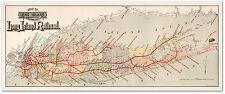 "BIG Long Island New York City MAP showing the Railroad LIRR circa 1895 24""x 60"""