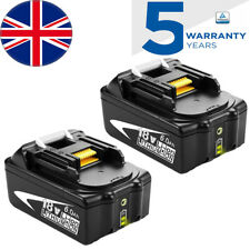 2x 18V 6.0AH Battery for Makita BL1860B BL1850B BL1840B BL1830B LED Indicator