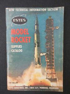 Vintage 1969 Estes Model Rocket Supplies Catalog #691 Rocketry Old Hobby Book