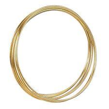 "6 x 3"" Brass Coated Strong Dreamcatcher/Macrame Craft Hoop/Ring & Waxed Cord"