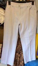 M&S Per Una Multi-coloured Striped Cotton Cropped Straight Leg Stretch Jeans, 10