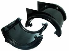 Pack Of 5 Black 112Mm  Half Round Union Brackets Downpipe Bracket