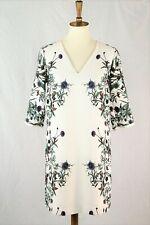 RACHEL Rachel Roy Cream Green Floral Shift Dress Size 2
