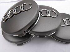 4pz Tappi Coprimozzo silver 60mm per Audi  A1 A3 A4 A5 A6 Q5 TT RS4 Q5 Q7 S4