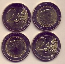 2013 THE NETHERLANDS: 4 x 2 EURO COINS - UNC....GOING  VERY  CHEAPLY