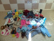 BUNDLE OF ASSORTED CLOTHES SHOES BOOTS & BAGS FOR BARBIE DENIM THEME