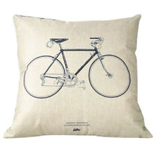 K9 Throw Sofa Home Decor Pillow Case Cotton Linen Cushion Cover Bicycle 45*45cm