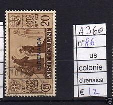 FRANCOBOLLI ITALIA COLONIE CIRENAICA USATI N°86 (A360)