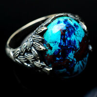 Shattuckite 925 Sterling Silver Ring Size 7.75 Ana Co Jewelry R18988F