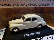 voiture 1/43 atlas voiture de mon père : PEUGEOT 203 blanche