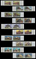1995 -1996 COMPLETE PAIRS MNH FARMHOUSES FROM BAVARIA THURINGIA SAXONY FIFEL
