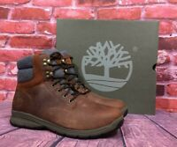 Timberland Men's Norton Ledge Waterproof Leather Boots A1QD8 WARM LINED MD BROWN