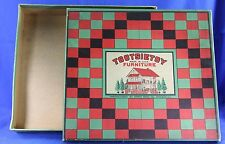 VINTAGE TOOTSIETOY FUNRITURE BOX  ONLY CHECKERED BACKGROUND